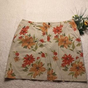 ⚡️NWOT⚡️ Eddie Bauer Tan Orange Floral Stretch